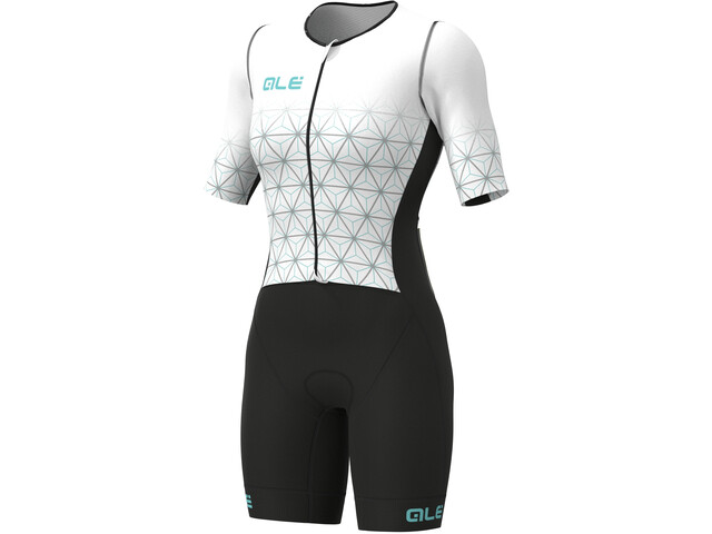 Alé Cycling Maui Kurzarm Triathlon Skinsuit Lang Damen white